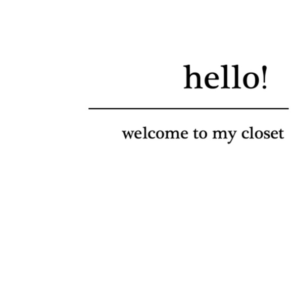 Meet the Posher Other - Welcome to my closet!